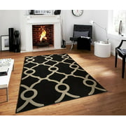 Modern Area Rugs On Clearance 5x7 Contemporary Black Gray Rug For Living Room 5x8