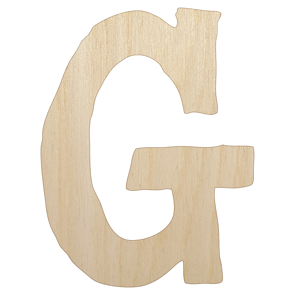 Letter M Uppercase Cute Typewriter Font Unfinished Wood Shape Cutout DIY Craft