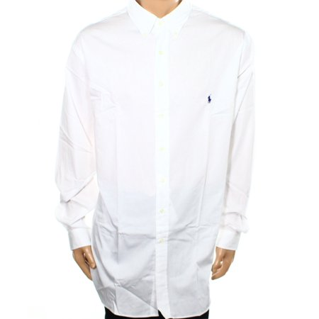 NEW White Mens Size 4XLT Big & Tall Button Down Shirt