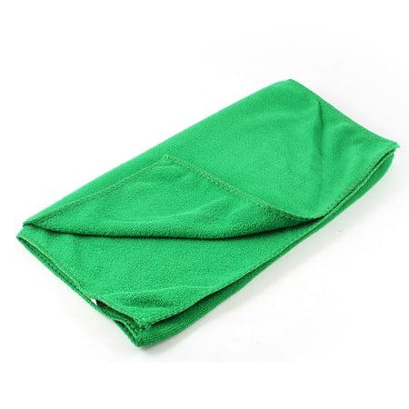 Green Rectangle Design Pet Dog Yorkie Grooming Bath Towel 70cm x 30cm