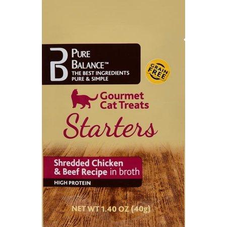 Pure Balance Gourmet Cat Treat Starters Shredded Chicken Beef