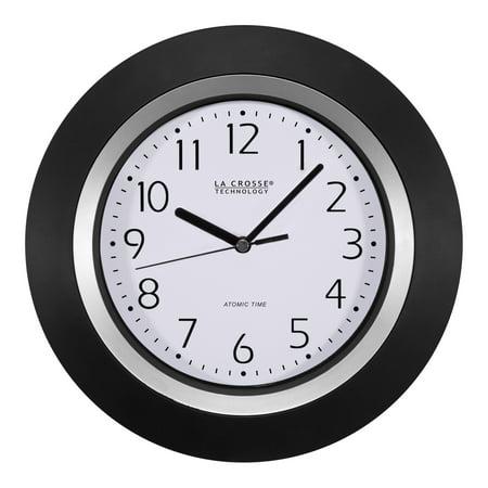 La Crosse Technology 404-1225 10 Inch Atomic Black and Silver Analog