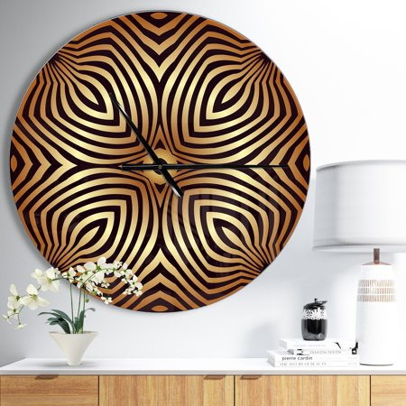DESIGN ART Designart 'Convex Symmetrical Ellipse' Oversized Contemporary Wall CLock