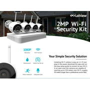 LaView LV-KNW954WB4-T1 1080p wireless security camera system outdoor HD 4 channel WiFi 1TB Hard Drive outdoor/indoor home security camera system