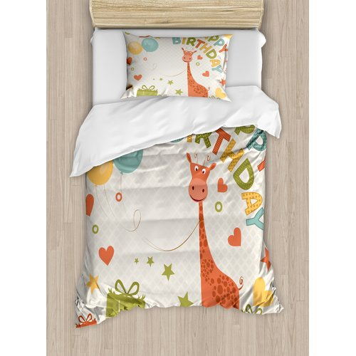 Ambesonne Birthday Decorations for Kids Duvet Set