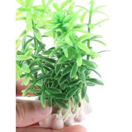 4PCS 10cm Green Plastic Emulational Grass Aquatic Plant Decor for Aquarium Tank - image 2 de 3