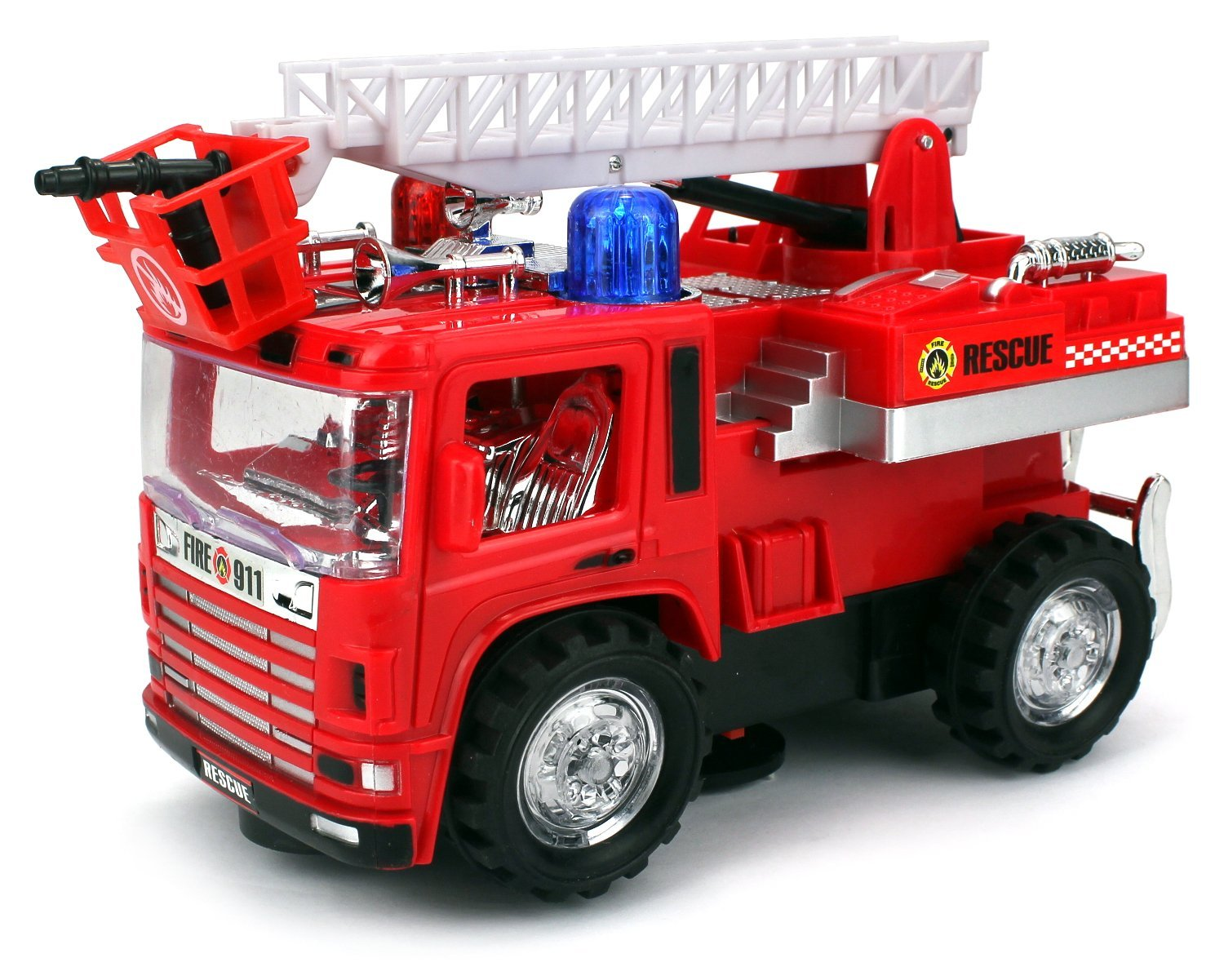 VT Mini Pumper Fire Rescue Battery Operated Bump and Go Toy Truck w  Flashing Lights,... by Velocity Toys