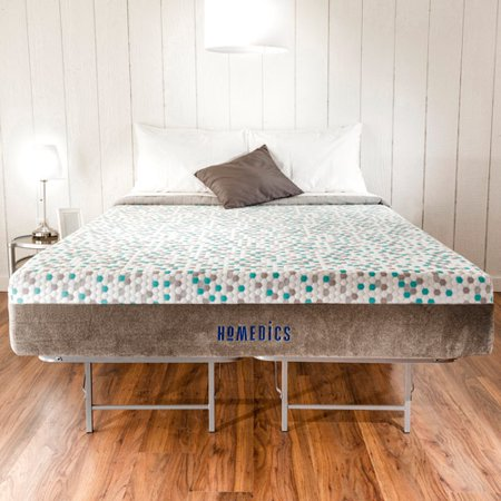 homedics restore 11 gel memory foam mattress and bed frame set multiple sizes