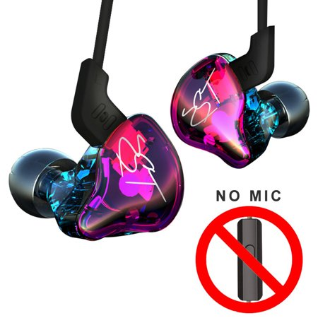 KZ ZST Pro 3.5mm Wired In Ear Headphones HiFi Music Earphones 1DD+1BA Dynamic Armature Drivers Sports Headset with Replacement Earphone Cable Earbuds Purple