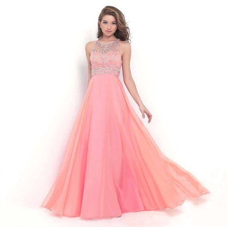 Maggie Sottero Prom - Womens Ballgown Long Dress Chiffon Evening Party Formal Bridesmaid Prom Ball Gowns Dress Sleeveless