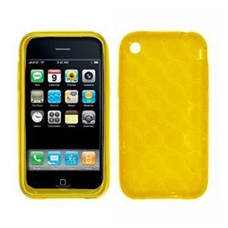 Premium Yellow Circular Pattern Thermoplastic Polyurethane Soft Gel Skin Cover Guard Case for Apple iPhone 3G 8GB 16GB / 3G S 16GB 32GB [EMPIRE Brand]