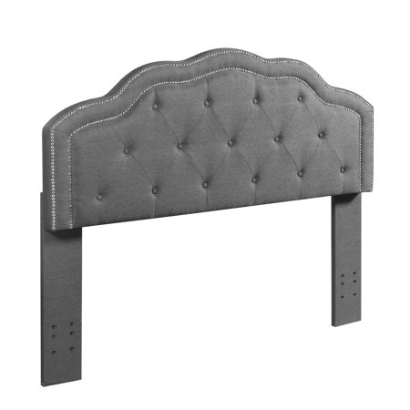 Best Quality Furniture Linen Panel Headboard, Queen or Full Size Bed Frame & multiple