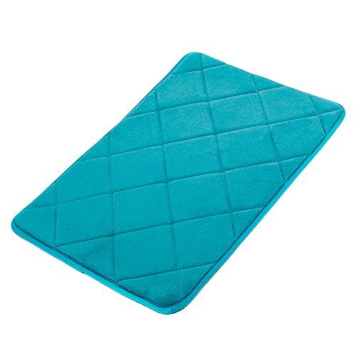 GUDLUK Memory Foam Bath Mat, Soft Non Slip Absorbent Bathroom Rugs, 17 x 24 inch, Aqua... by LIVEDITOR LIGHTING