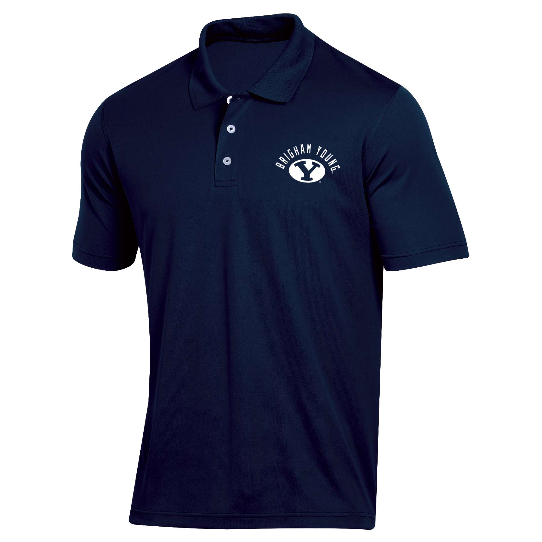 Men's Russell Navy BYU Cougars Classic Dot Mesh Polo