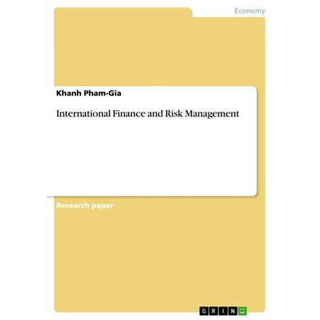 International Finance and Risk Management - eBook (International Institute Of Risk & Safety Management)