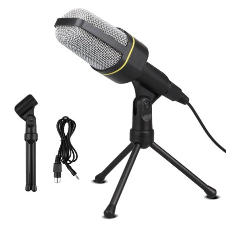 TSV Pro Microphone with Desktop Stand for Gaming,YouTube Video,Recording Podcast,Studio,for