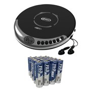Jensen CD-60C Portable CD Player with Bass Boost, Includes 20 AA Batteries