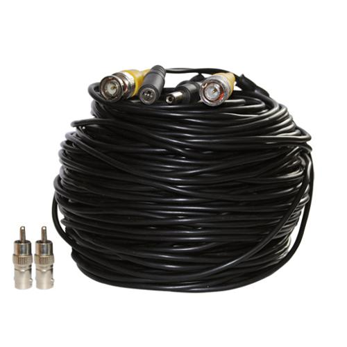 VideoSecu 100ft Video Power Security Camera Extension Cable Wire Cord Free BNC RCA Connectors for DVR System CBV100 b3f