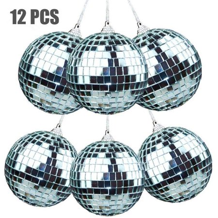 12 Pcs Mirror Balls Disco DJ Dance Decorative Stage Lighting Home Party Business Window Display Decoration 1.2 INCH - image 6 of 8