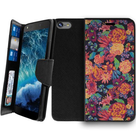 Wallet Case For Apple Iphone 8 4 7    Magnetic Shut Folio Case For Iphone 8  Apple Iphone 8 Leather Case  Clip Folio  Kickstand Secure Id Case Case   Floral Dream