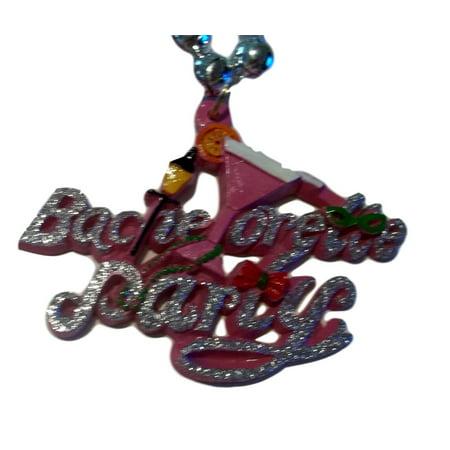 Pink Bachelorette Party  Mardi Gras Necklace Beads covid 19 (Bachelorette Party Keychains coronavirus)