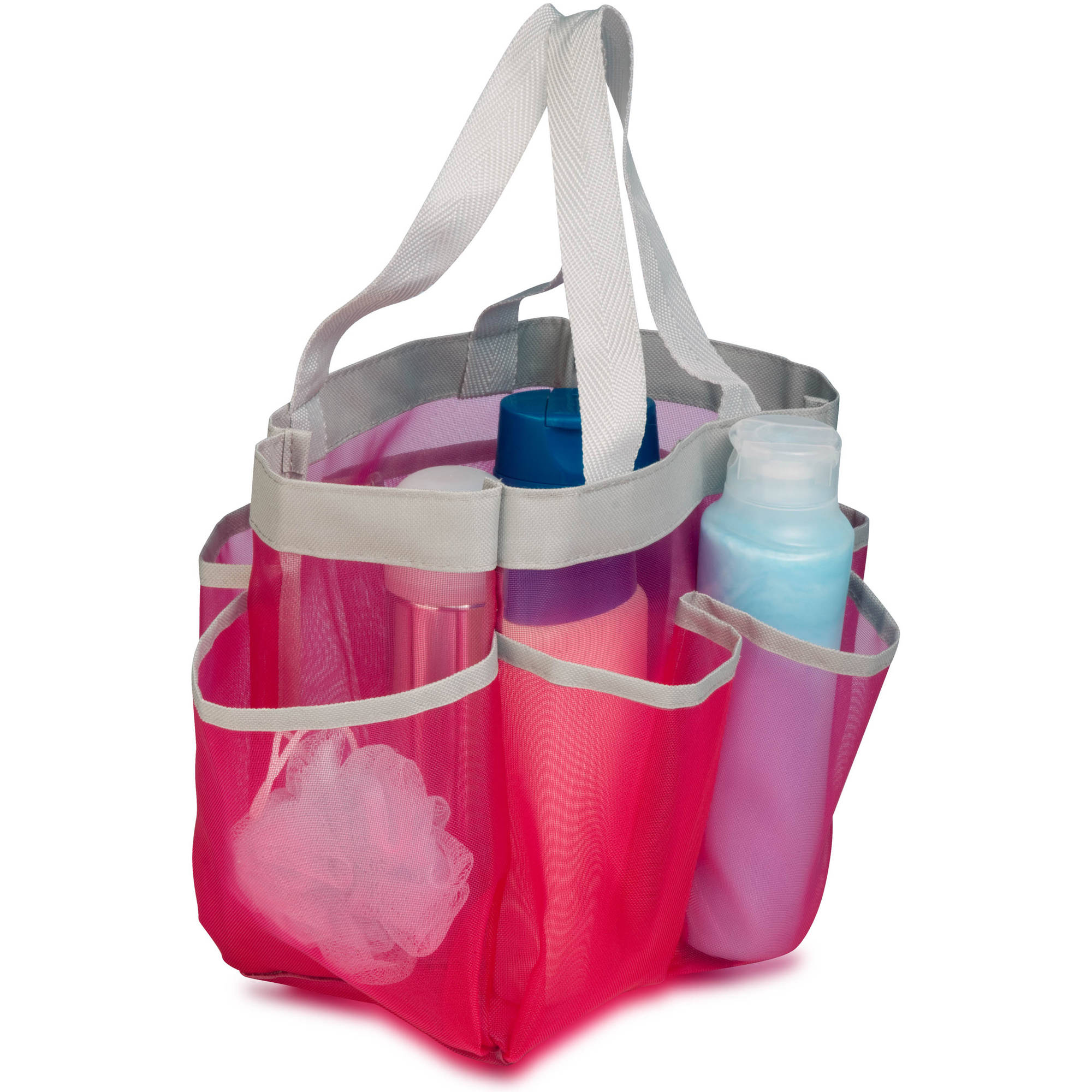 Honey Can Do Quick Dry Shower Tote with Handles, Multicolor