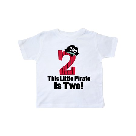 Pirate 2nd Birthday Toddler T Shirt