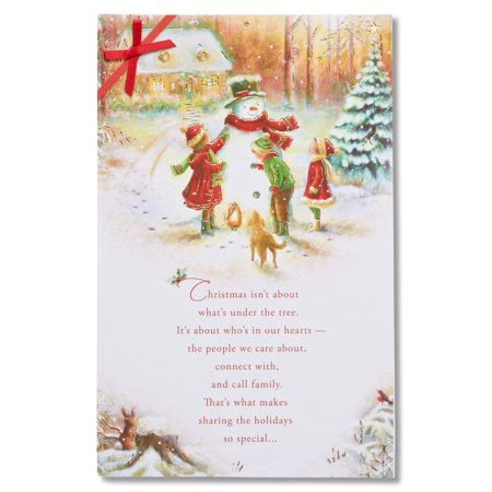 American greetings snowman christmas card with ribbon walmart american greetings snowman christmas card with ribbon m4hsunfo