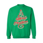 Awkward Styles Merry Christmas Sweater for Men Women Ugly Christmas Sweater Christmas Sweatshirt Christmas Tree Sweater Family Sweatshirts Holiday Sweaters for Women and Men