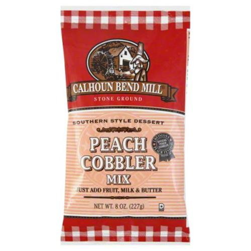 Calhoun Bend Mill Peach Cobbler Mix, 8 oz, - Pack of 6
