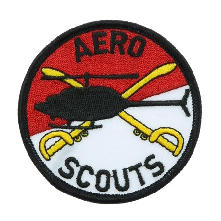 Aero Scouts Crossed Sabres Helio Helicopter Embroidered Iron on Patch 3 inch HONFL10](Scout Helicopter)