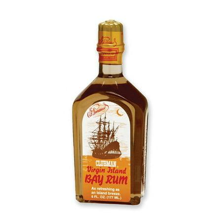 (6 Pack) CLUBMAN Virgin Island Bay Rum, 12 oz (Cruzan Mango Rum)