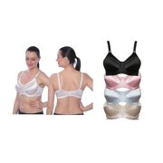 Womens Full Figure Satin Minimizer Bra, Multi-color - Plus Size - Case of 48