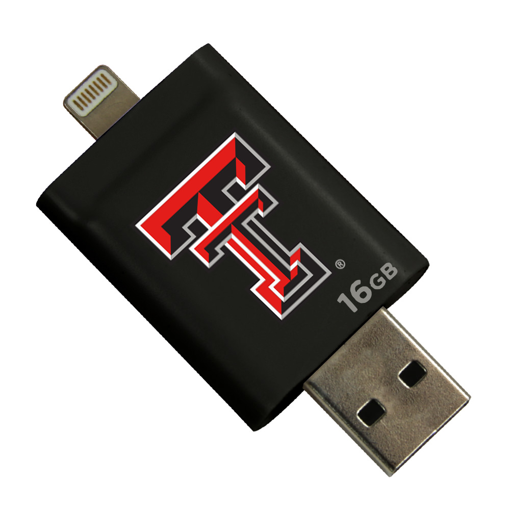 Texas Tech Red Raiders i-FlashDrive HD USB Drive 16GB - Black