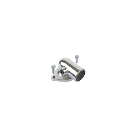 MACs Auto Parts  48-37014 Ford Pickup Truck Thermostat Housing - 360 & 390 V8 - O-ring Type - Chrome Plated - F100 Thru F350 - Ford F-100 Pickup Radiator
