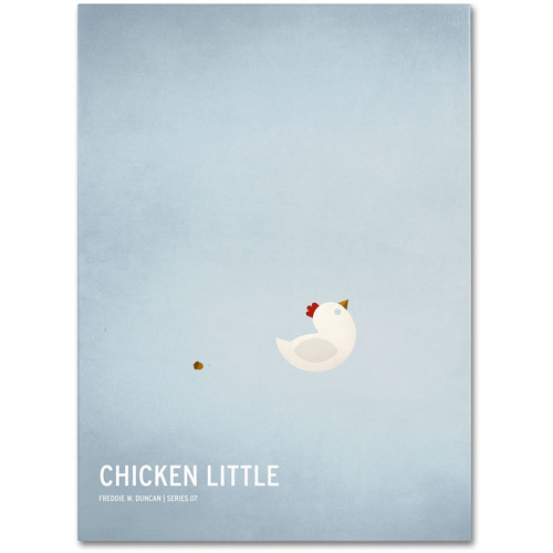 "Trademark Fine Art ""Chicken Little"" Canvas Art by Christian Jackson"