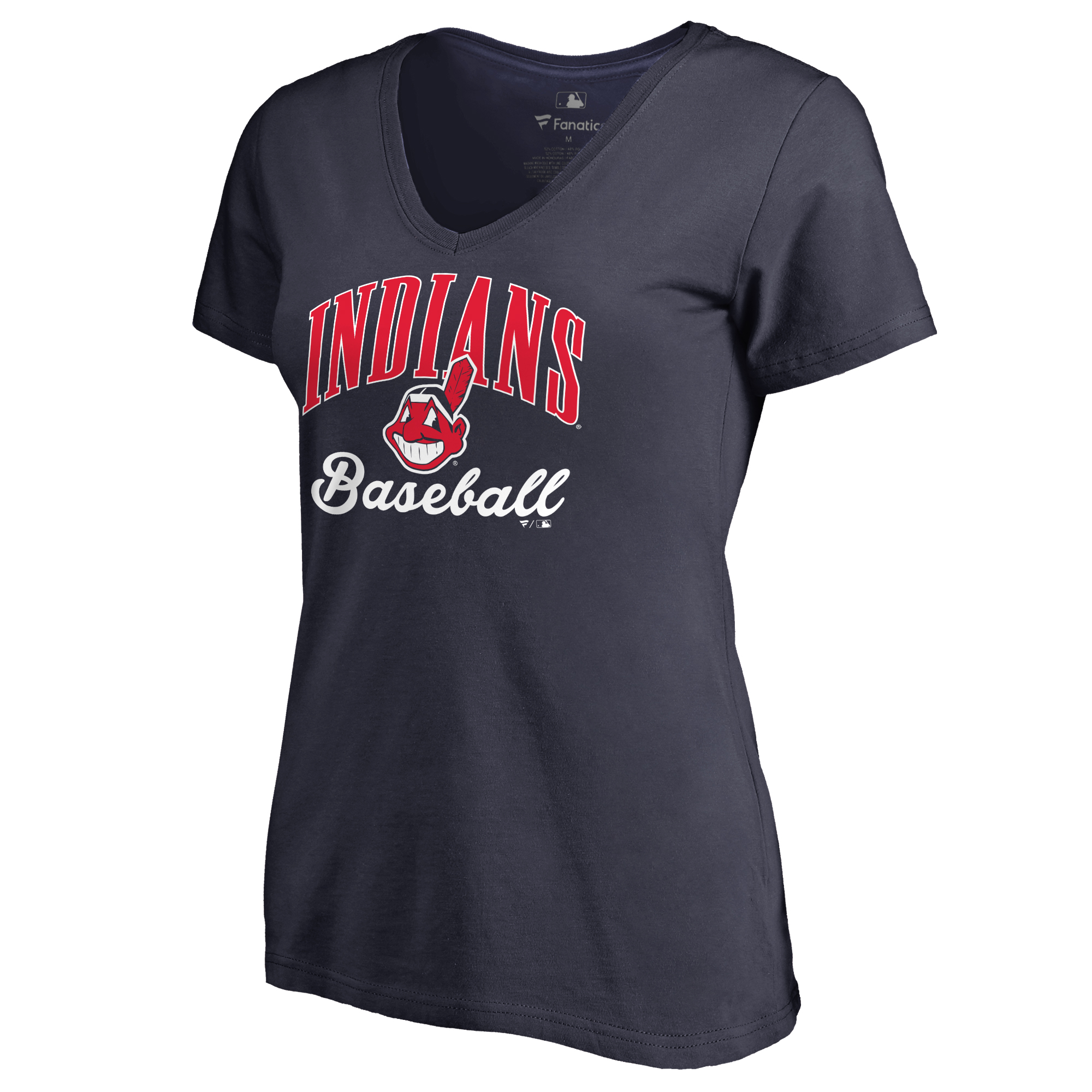 Cleveland Indians Women's Victory Script T-Shirt - Navy