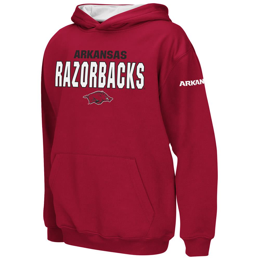 Kids Arkansas Razorbacks Poly Pull-over Hoodie