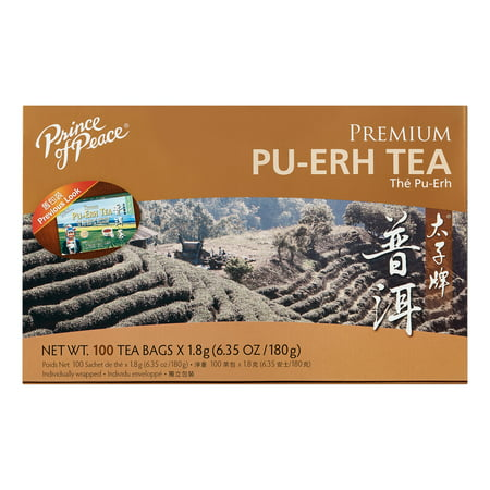 Prince Of Peace Tea Premium Pu-erh Tea, 100 teabags - Old Tree Pu Erh Tea