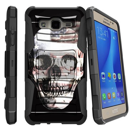 Samsung Galaxy Core Prime Case | Galaxy G360 Case [ Clip Armor ] Rugged Impact Defense Case with Kickstand + Holster - USA