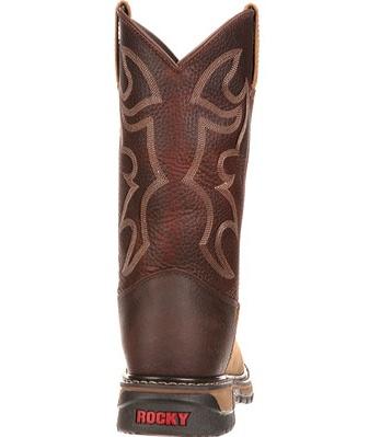 "rocky work boot men 11"" original ride branson st roper tan fq0006732"