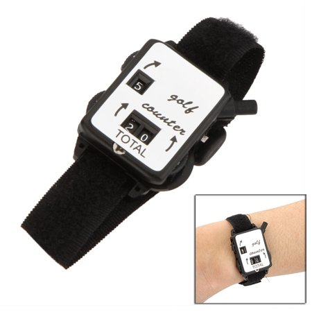 Golf Club Stroke Score Keeper Count Watch Putt Shot Counter with Wristband - Black Cat Golf Clubs