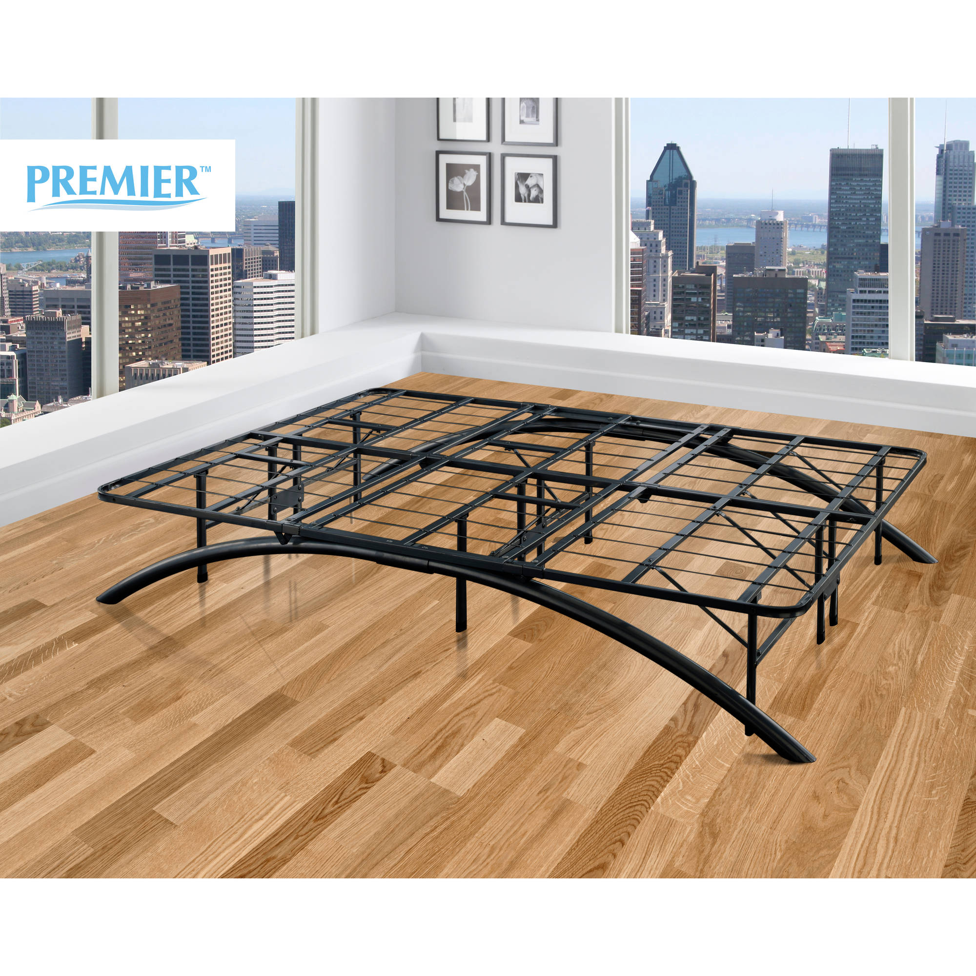 Premier Ellipse Arch Platform Bed Frame Black Multiple Sizes