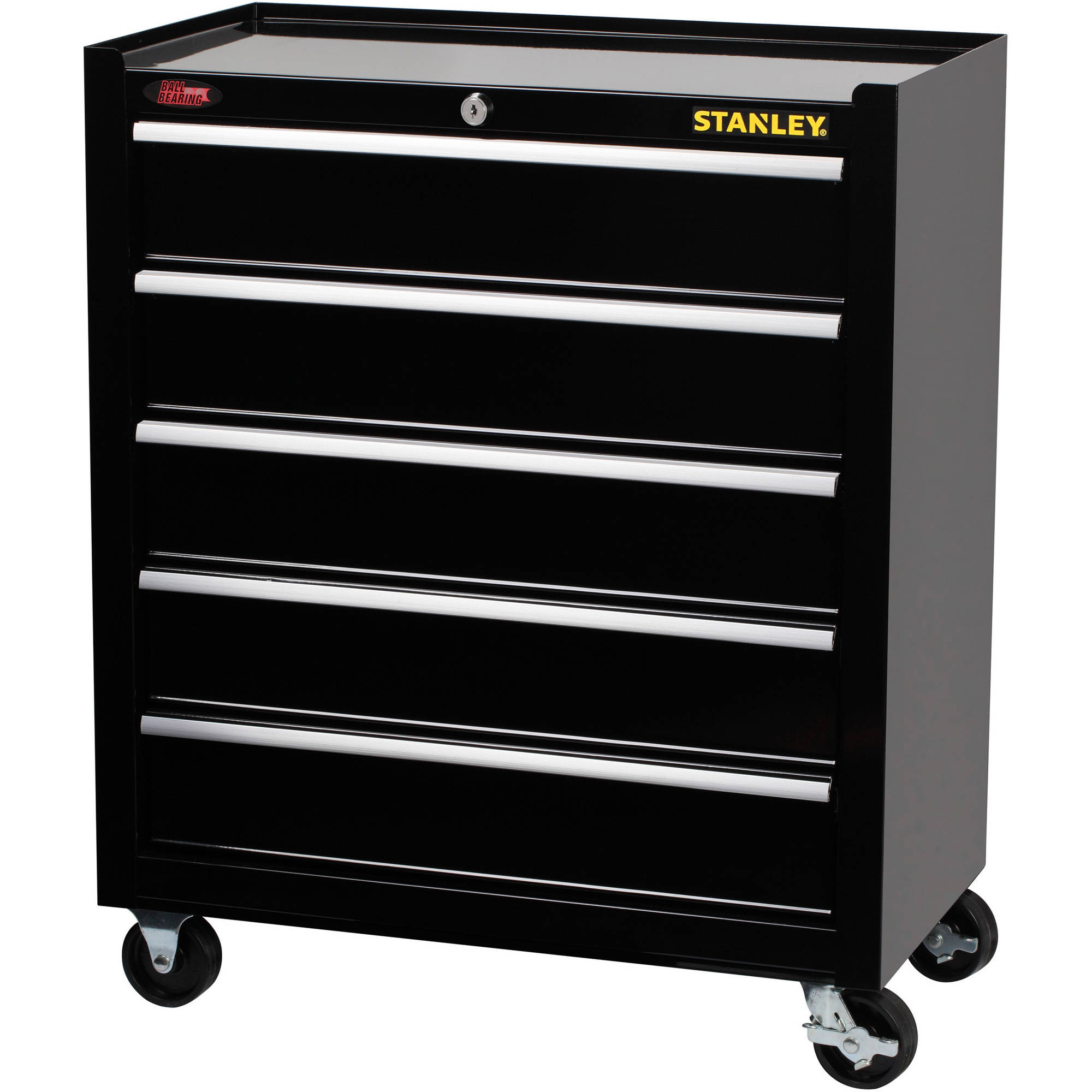 stanley 13 drawer tool chest and cabinet set - chest of drawers