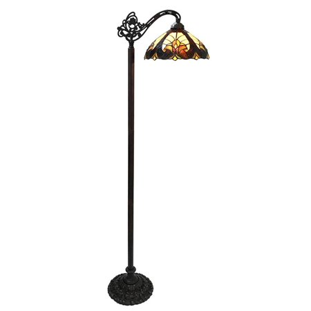 - 1-Light Liaison Reading Floor Lamp in Dark Antique Bronze Finish