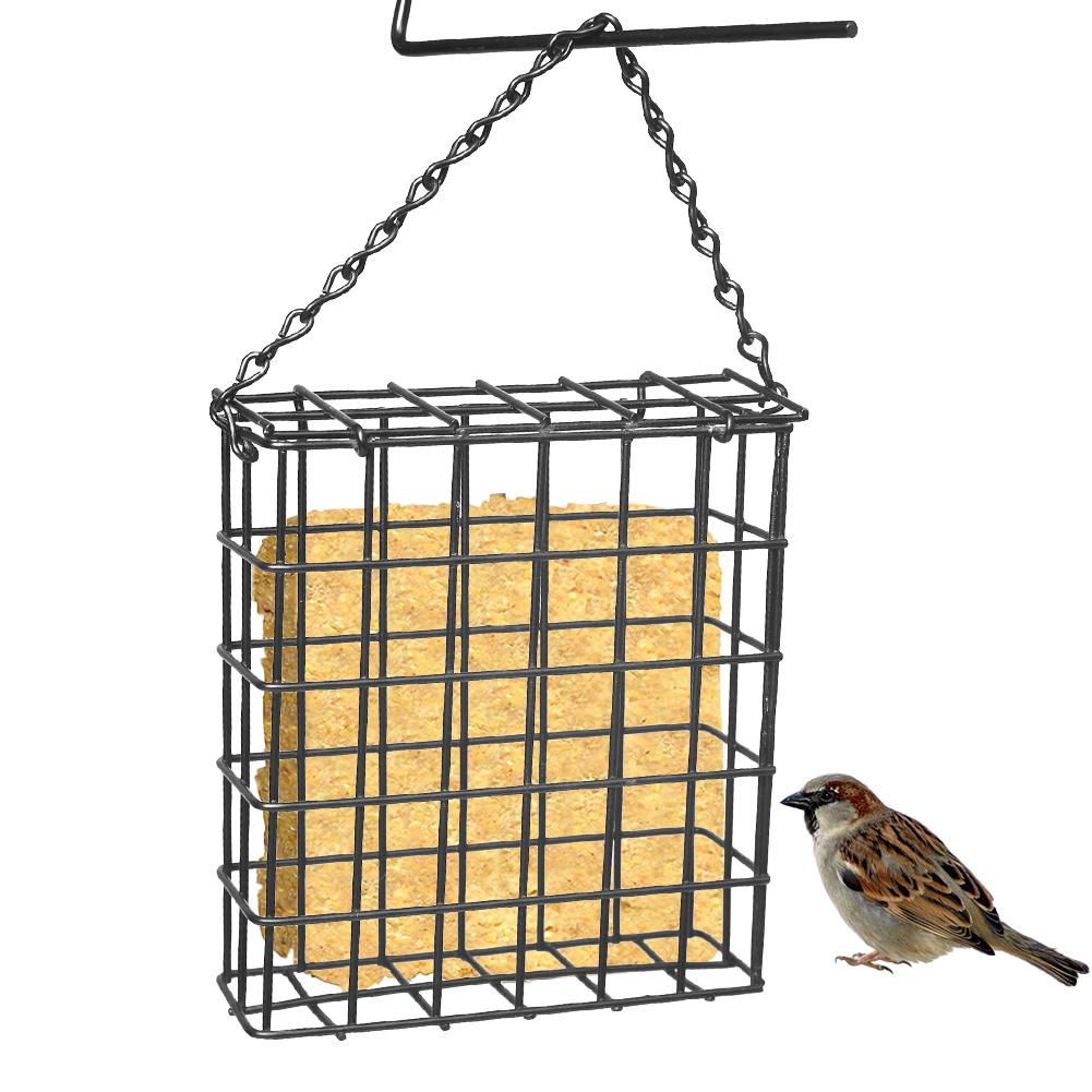 Bird Feeder Cube Cage Outdoor Wild Birds Parrot Feeding Hanging Tree Portable