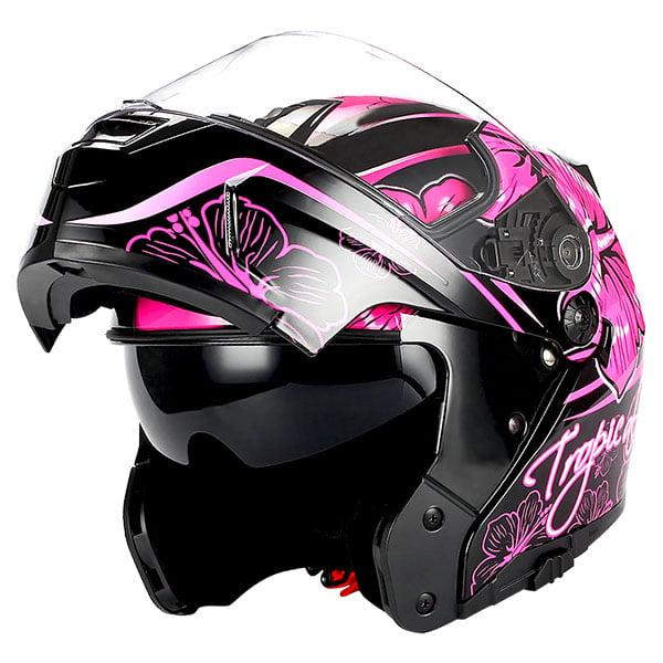 1Storm Motorcycle Modular Full Face Helmet Street Bike Flip up Dual Visor/Sun Shield Racing; Carbon Fiber Black