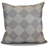 "Simply Daisy 16"" x 16"" Check It Twice Geometric Print Outdoor Pillow"