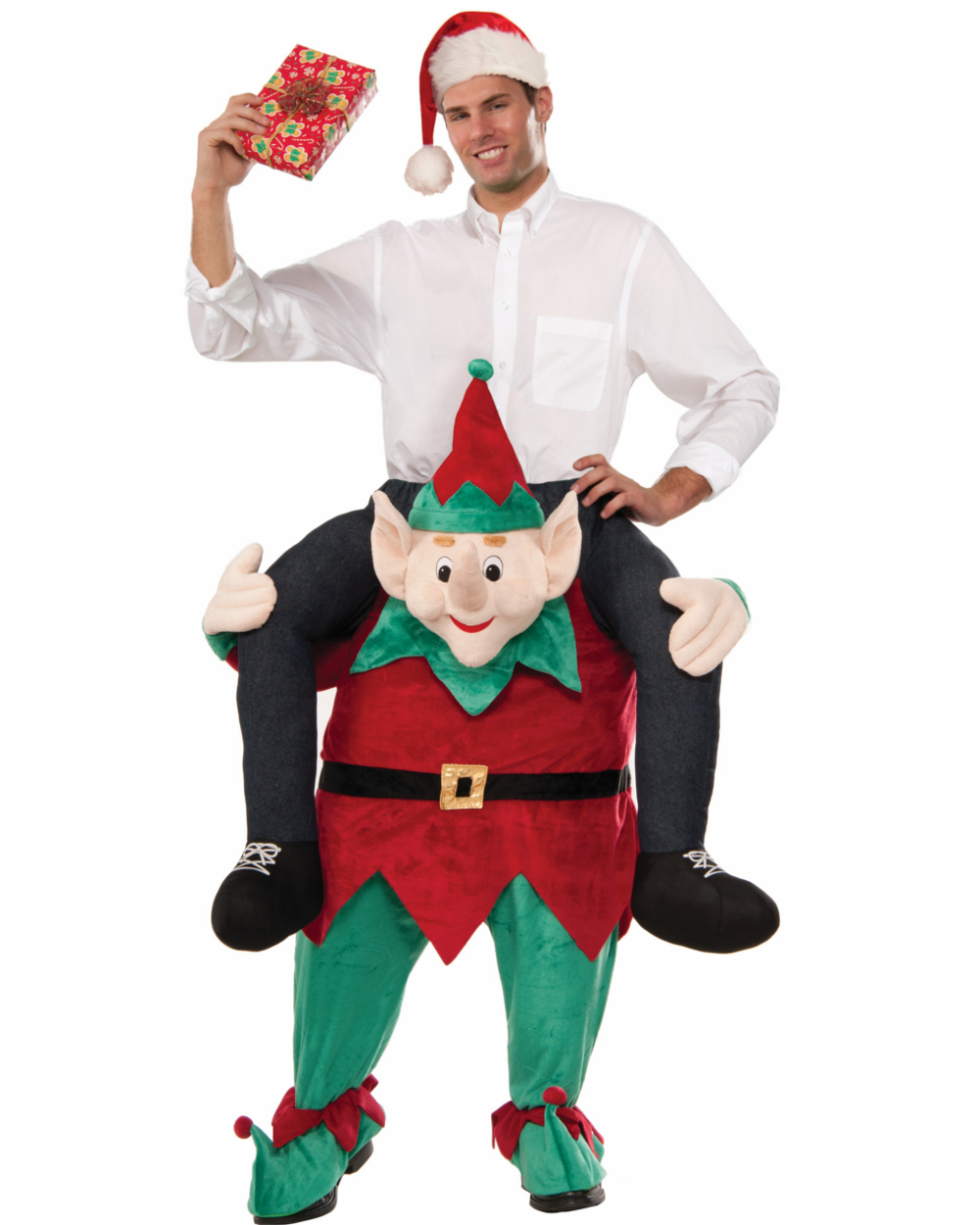 Mens 34  Myself On An Elf Riding Elf Christmas Plush Mascot Costume - Walmart.com  sc 1 st  Walmart & Mens 34