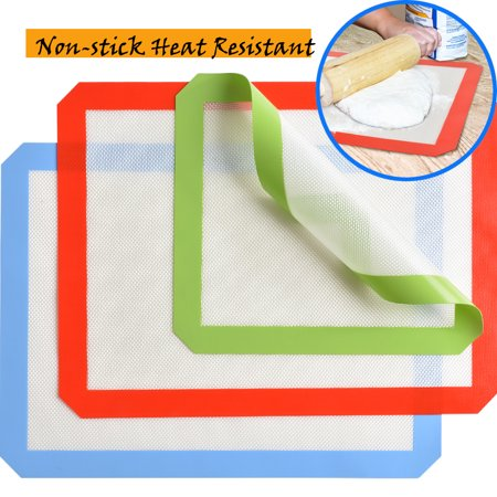 Image 3PCS Silicone Baking Mat Set Non-stick Heat Resistant Cookie Sheets (Demarle Silicone Baking Mat)